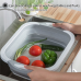 Multifunction Foldable Chopping Board Colander Vegetable Fruit Washing Basket Bowl