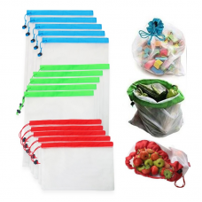 Reusable Mesh Produce Bags Fruit Vegetable Toys Sundries Bag