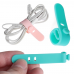 Silicone Organizer Winder Straps Headphones Soft Tape USB Wire Cable Tie Utensil Organize Storage Holder Earphone Clips