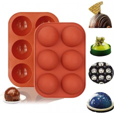6 Holes Semi Sphere Chocolate Molds