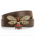Genuine Leather Bee Buckle Belt For Women