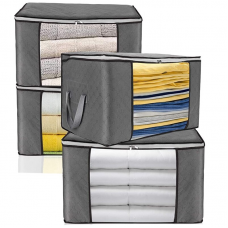 Custom Non woven Clothes Storage Bag Organizer with Reinforced Handle