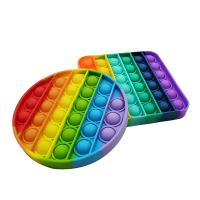 Rainbow Push Pop It Fidget Toy Anxiety Relieve Stress Bubble Sensory Autism Stress Reliever